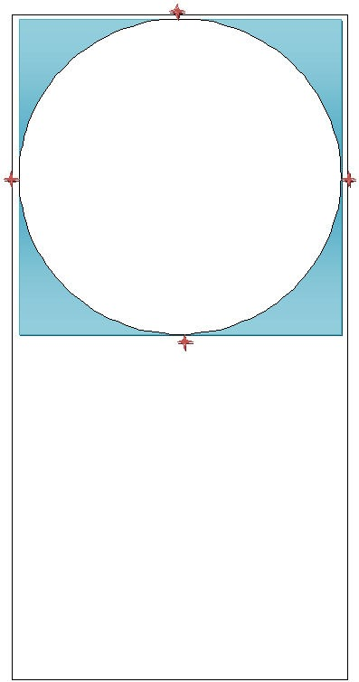 Proportions of the 20m circle within a 20x40 ring