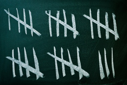 Proficiency by counting strikes on a blackboard