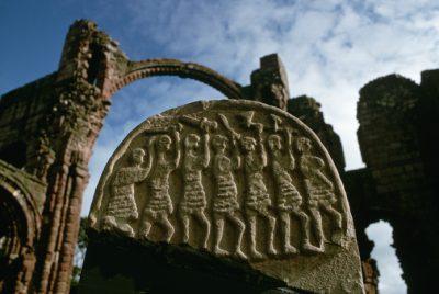 Gravestone Depicting Viking Marauders